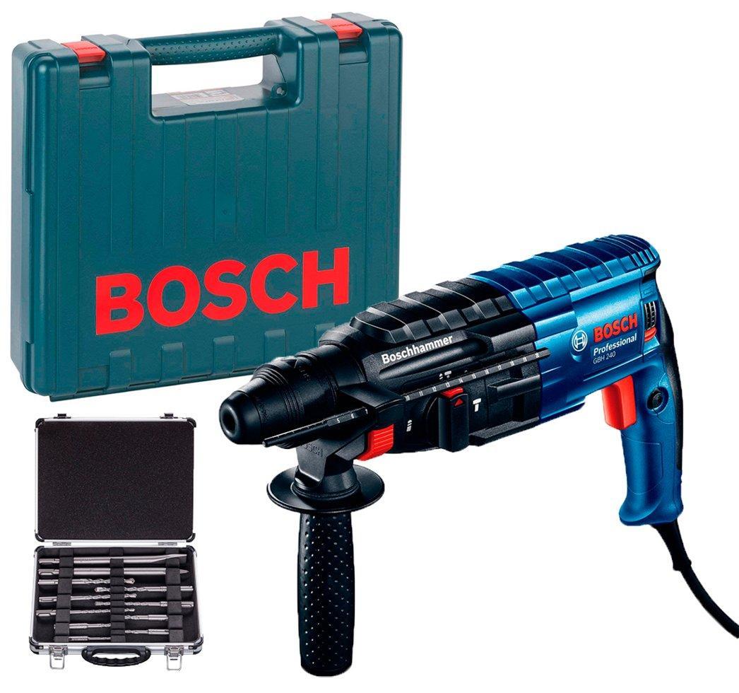Перфоратор Bosch GBH 240 Professional + набор SDS-Plus (0615990L44)