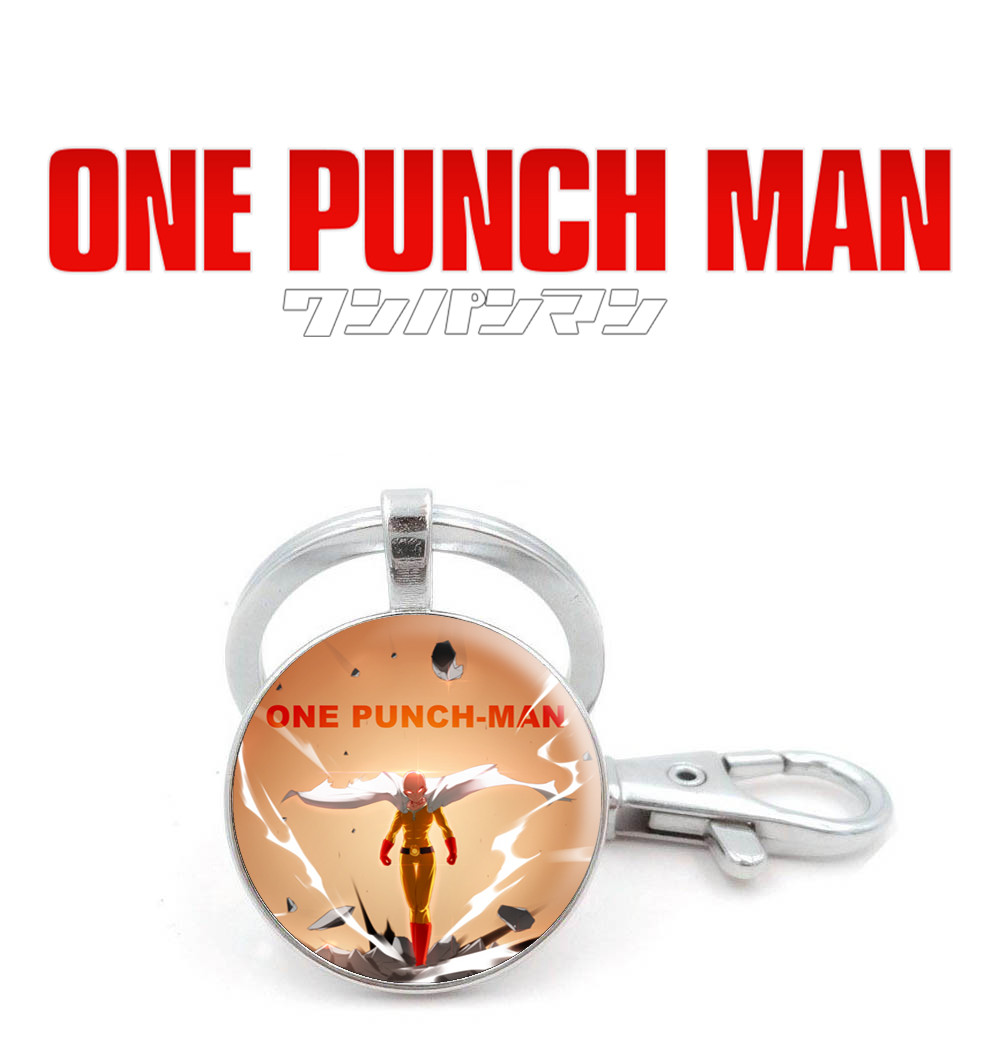 Брелок One Punch-Man с Сайтамой
