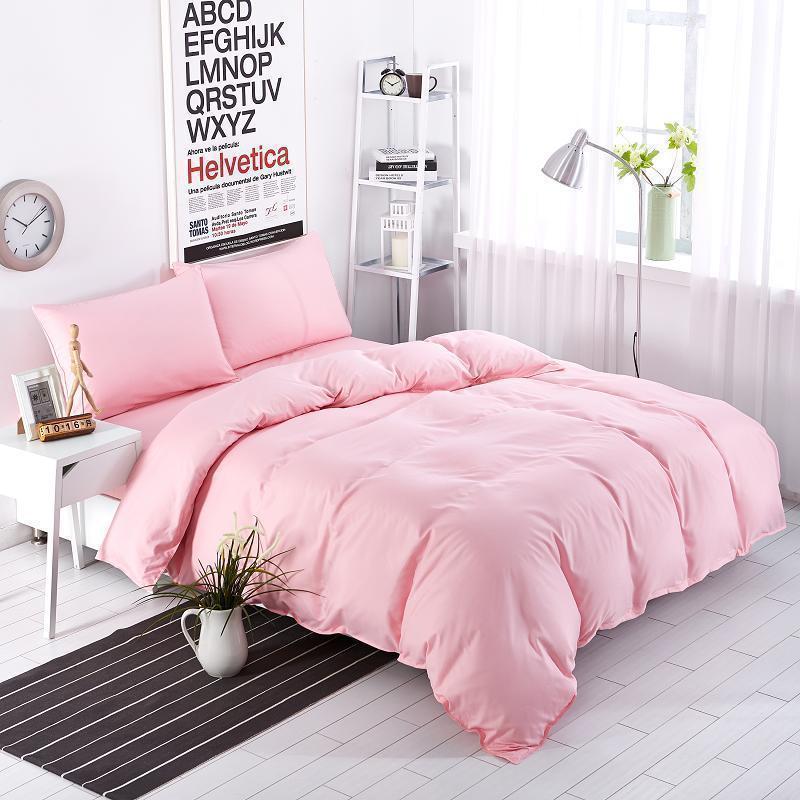 Постельное белье  Однотонный розовый  Rose, поплин Lux, разные размеры полуторный