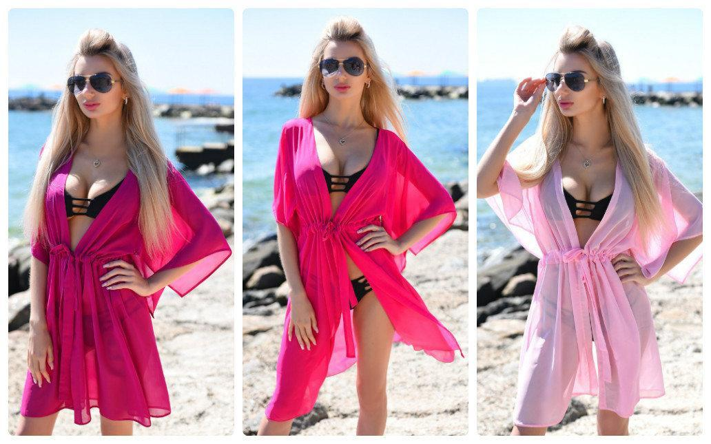 Пляжная туника купить короткая парео пляжна тунiка шифоновый халат