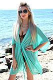 Пляжная туника купить короткая парео пляжна тунiка шифоновый халат, фото 9