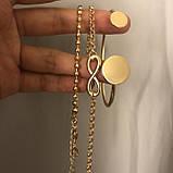 """Браслет """"Gold Set"""" комплект з 3 браслетів, золото, фото 3"""