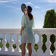 Пляжная туника купить короткая парео пляжна тунiка шифоновый халат, фото 1