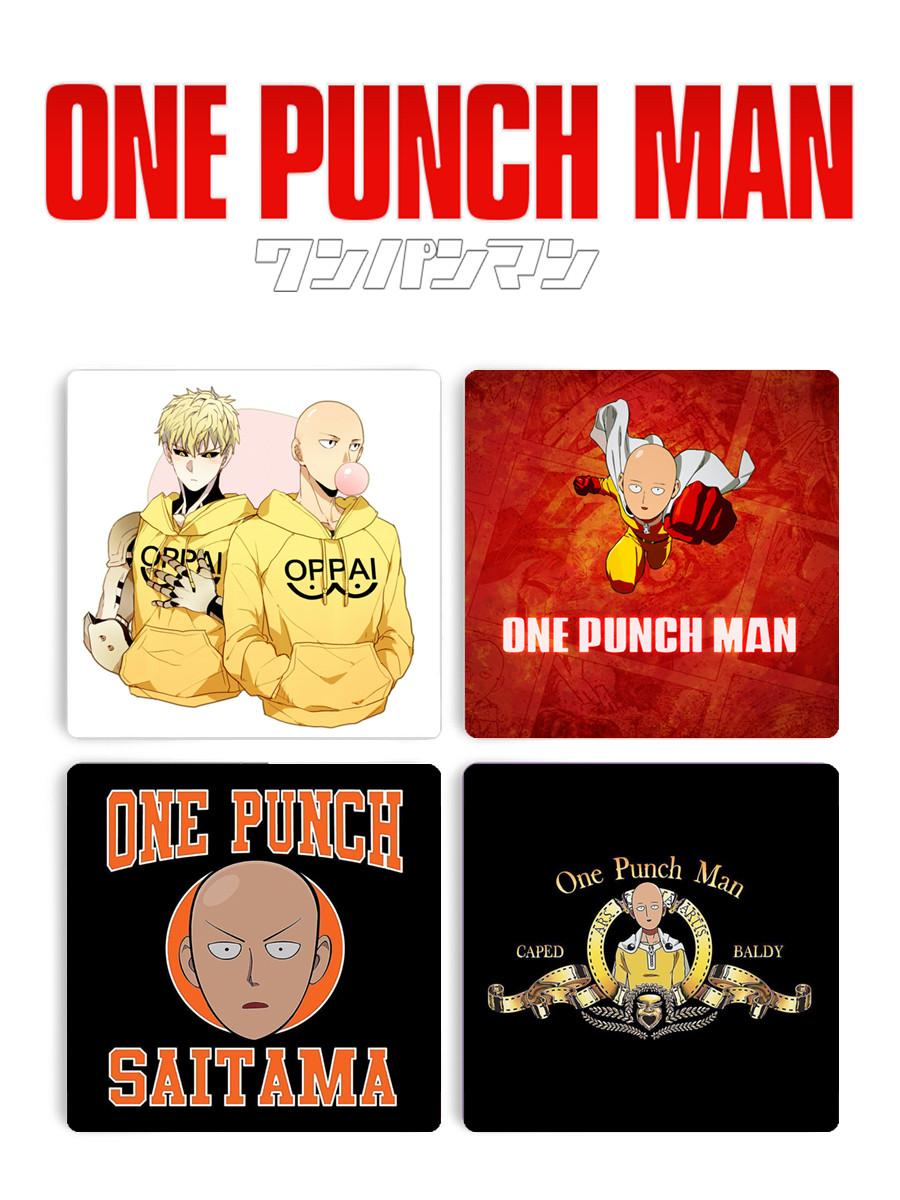 Подставки под чашку One Punch-Man с Сайтамой