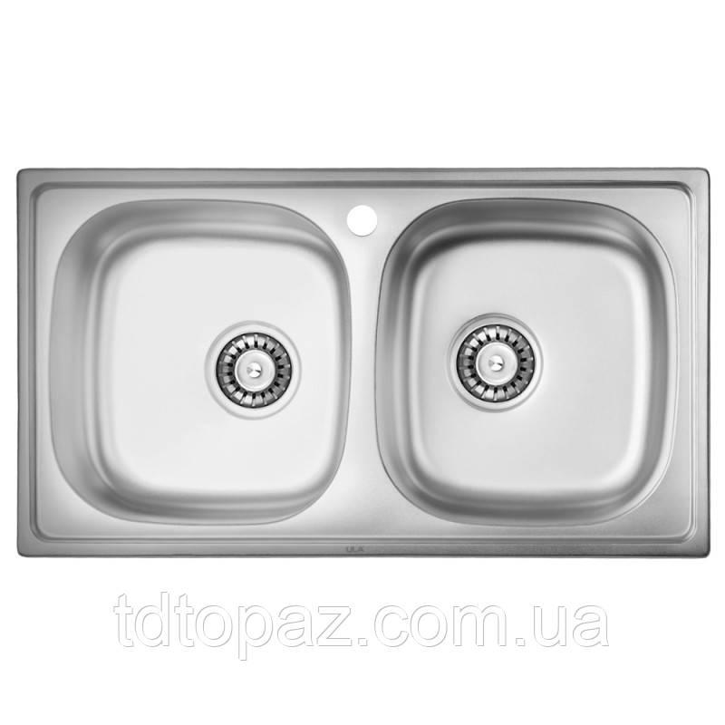 Кухонная мойка двойная ULA 5104 Micro Decor (ULA5104DEC08)