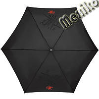 Мини зонт NEX плоский в футляре, расцветка Красно-черная абстракция