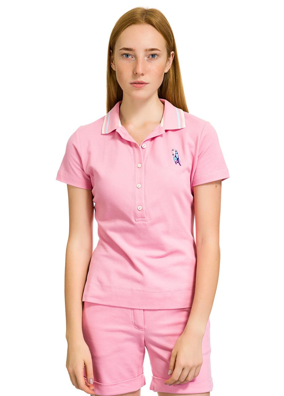 Футболка Поло женская Serena розового цвета