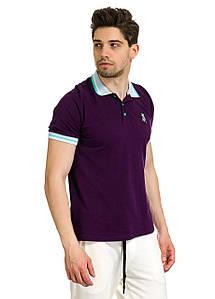 Футболка Поло мужская Agassi фиолетового цвета