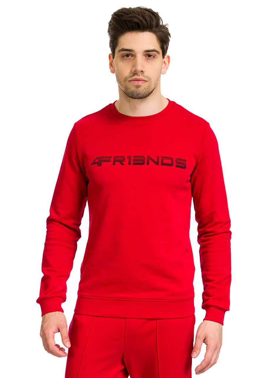 Свитшот мужской Ripple красного цвета