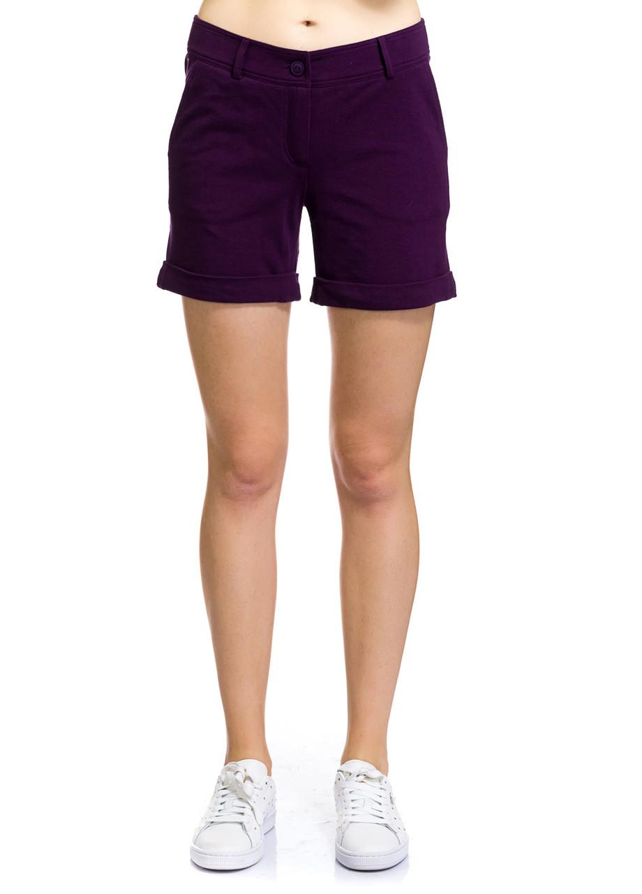 Шорты женские Tag фиолетового цвета