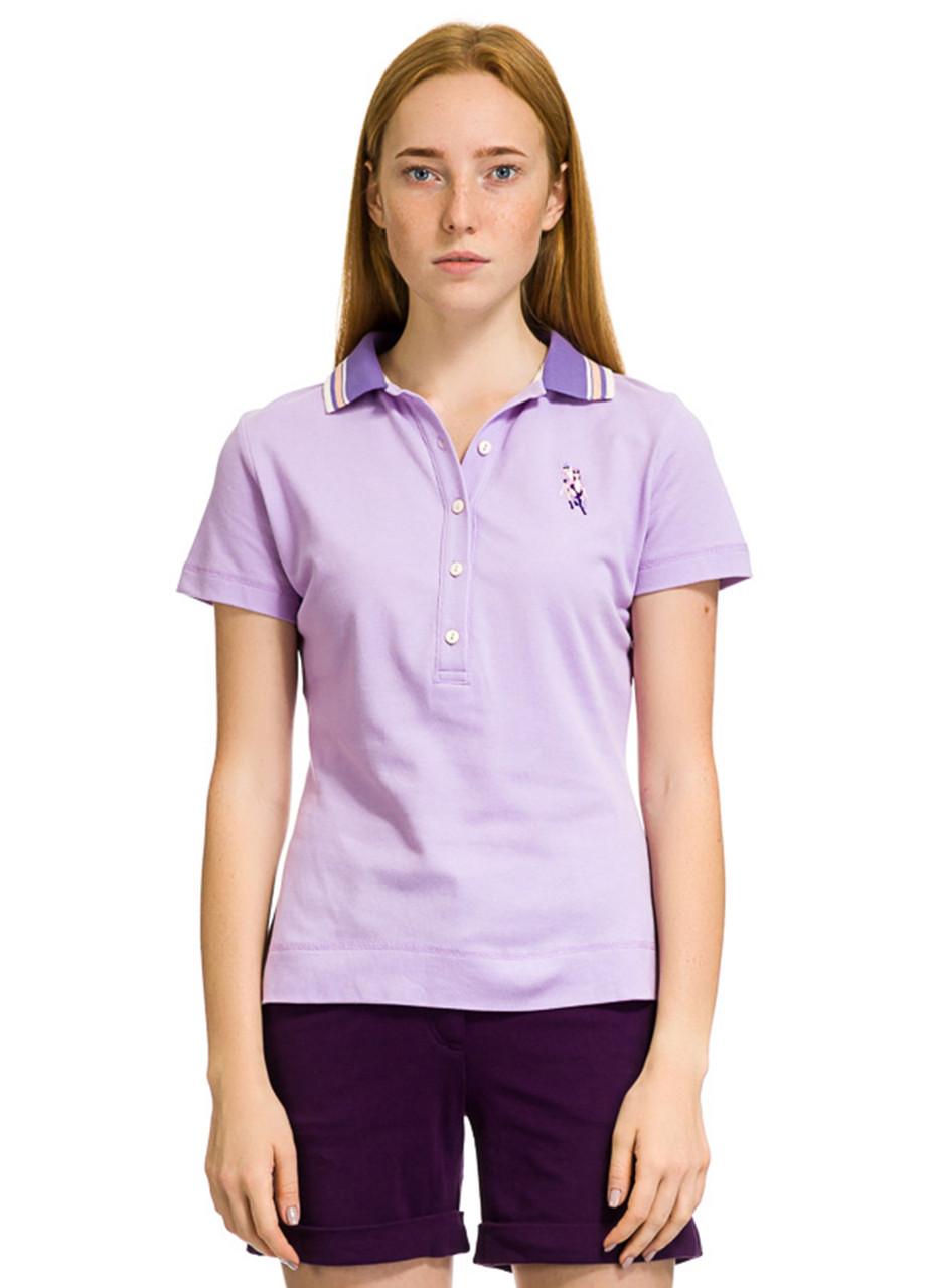 Футболка Поло женское Serena фиолетового цвета