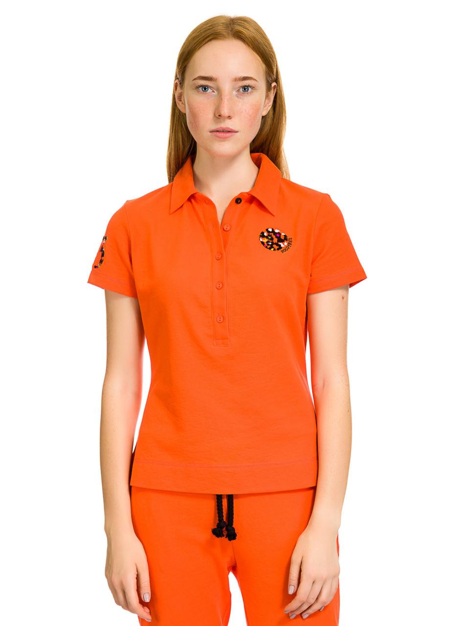 Футболка Поло женское Вright оранжевого цвета