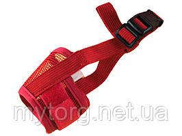 Нейлоновый намордник для собак Faroot Размер XL Красный