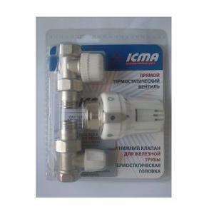 Купить Термостатический комплект Icma прямой 1/2 № KTE 986+775+815