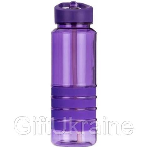 Пляшка для води з трубочкою Smile SBP-1 750 мл фіолетова R143672