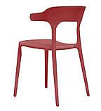 Пластиковый стул Lucky красный кармин (бесплатная доставка), фото 5