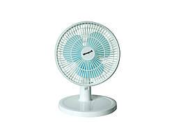 Настольный вентилятор Wimpex Бело-голубой (2394)
