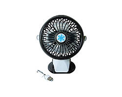 Настольный мини-вентилятор ML F168 Черный (2395)