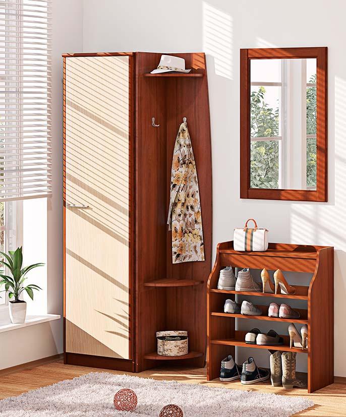 Прихожая ВТ-3927 Софт (1,6 м) Комфорт-Мебель Дуб натуральный