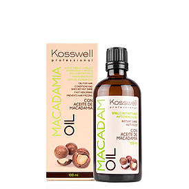 Восстанавливающее масло для волос Kosswell Professional Macadamia Oil, 100 мл