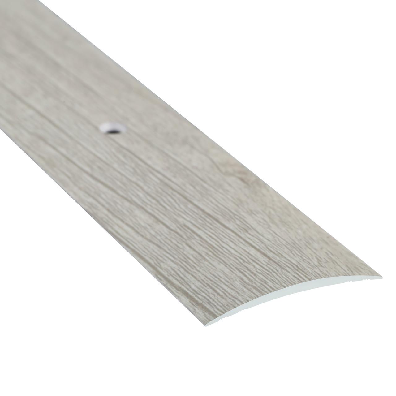 Алюминиевый профиль одноуровневый гладкий декорированный 40мм х 1.8м дуб беленый