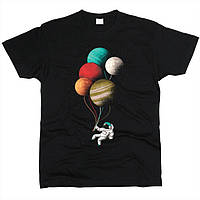 Космонавт с шариками 02 Футболка мужская