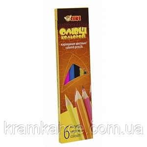 Олівці кольорові 6шт TIKI 51612-TK