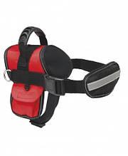 Шлея Hiking M 57-74 см с поводком красная для собак Croci
