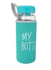 Бутылка My Bottle в чехле c дозатором 500 ml бирюза