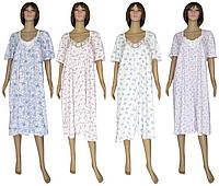 Ночная рубашка женская длинная больших размеров 03264 Аппликация, р.р.52-62