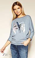 Блуза Sophy Zaps джинсового цвета.
