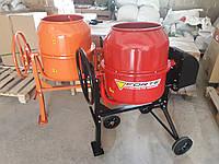 Бетономешалка на колесах для дома 125 литров Forte 125 ЛН NEW ОРАНЖЕВАЯ