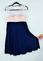 Платье 40+ Кружево+шифон