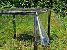 Клеенка силиконовая на стол с голограммой, прозрачное покрытие с нежным цветочным рисунком