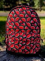 Спортивный рюкзак с оригинальными принтами отличного качества с арбузиками
