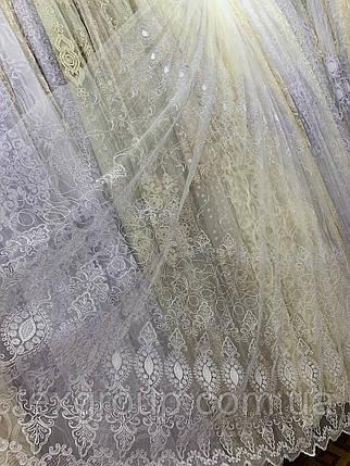 Тюль фатиновая Корт белый IST-603, фото 2