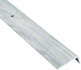 Алюминиевый лестничный профиль рифленый декорированный 24.5мм х 10мм х 2.7м дуб снежный
