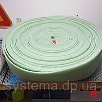 Демпферная лента 5х150 мм для стяжек и теплых полов из вспененного полиэтилена, рулон 50 м, фото 2