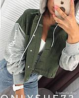 Женская куртка джинс-трикотаж