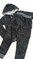 Спортивный костюм турецкий на мальчиков 146,170 роста Милитари серый, фото 3