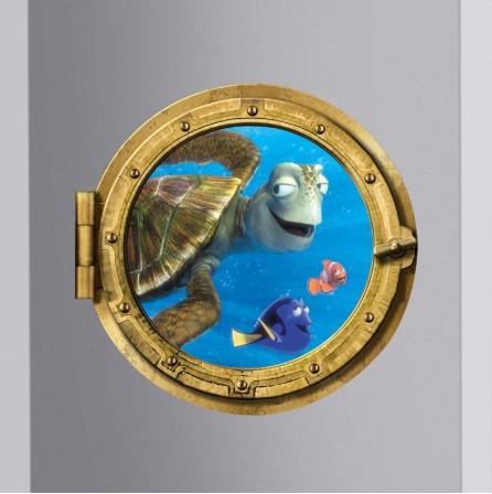 """Наклейка окно каюты """"Подводный мир"""" - диаметр 43см"""
