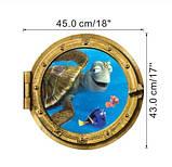 """Наклейка окно каюты """"Подводный мир"""" - диаметр 43см, фото 2"""