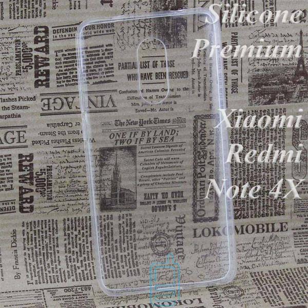 Чехол силиконовый Premium Xiaomi Redmi Note 4x прозрачный