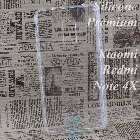 Чехол силиконовый Premium Xiaomi Redmi Note 4x прозрачный, фото 2