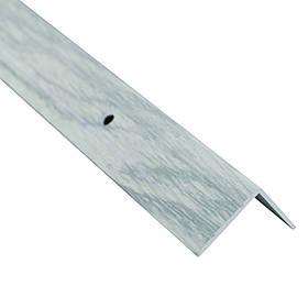 Алюминиевый лестничный профиль рифленый декорированный 24.5мм х 20мм х 2.7м дуб снежный