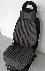 Ортопедична подушка - чохол на авто крісло для сидіння EKKOSEAT. Універсальна з бионапонителем
