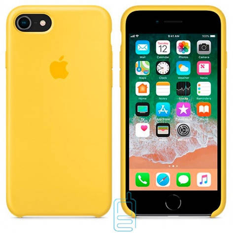 Чехол Silicone Case Apple iPhone 6 Plus. 6S Plus желтый 04, фото 2