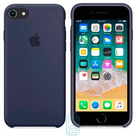 Чехол Silicone Case Apple iPhone 6. 6S темно-синий 08, фото 2