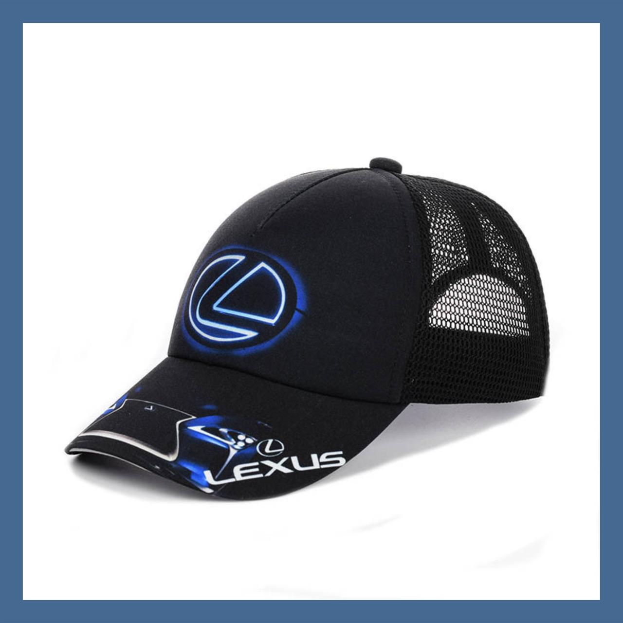 """Кепка  """"Lexus"""" с черной сеткой"""
