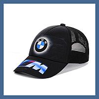 """Кепка- бейсболка """"BMW"""" с черной сеткой, фото 1"""
